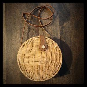 Zara wicker round bag